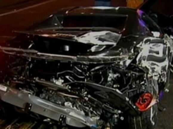 Accidente de un Ferrari 458 Italia en Sao Paulo, Brasil