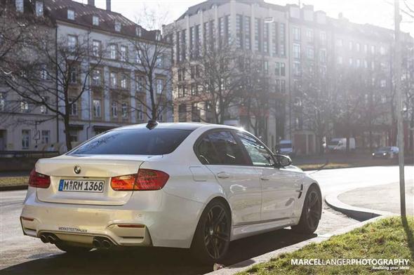 Nuevo BMW M3 sedán, en plena calle 2