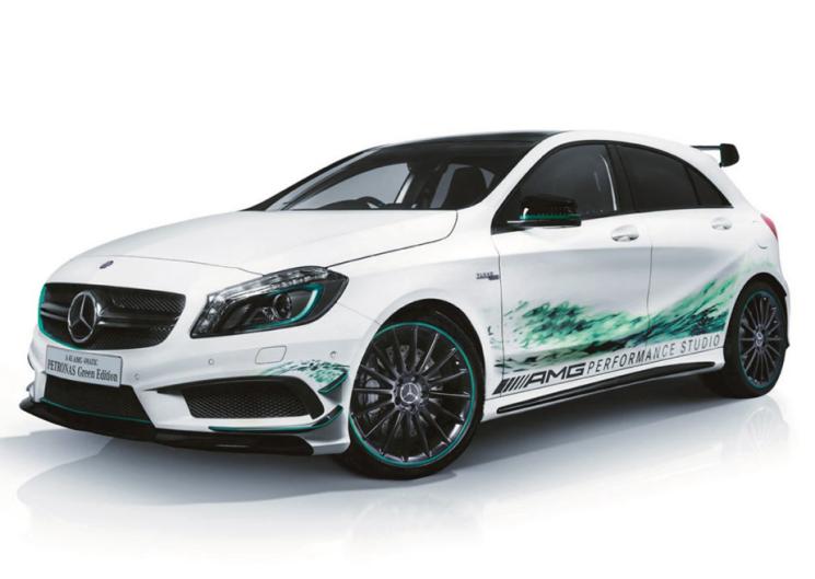 Mercedes A45 AMG Petronas Green Editon, directo al Salón de Tokio