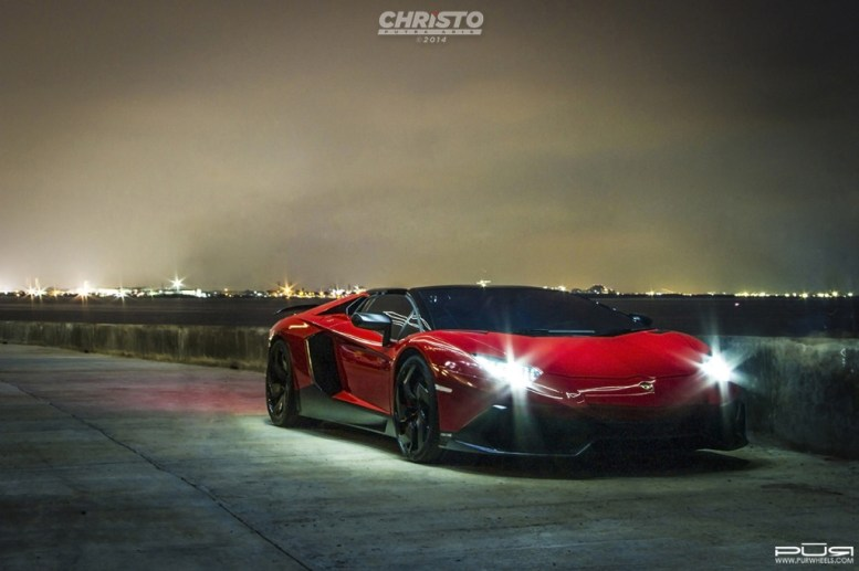 Lamborghini Aventador Rodaster con llantas PUR, porque a veces menos es más