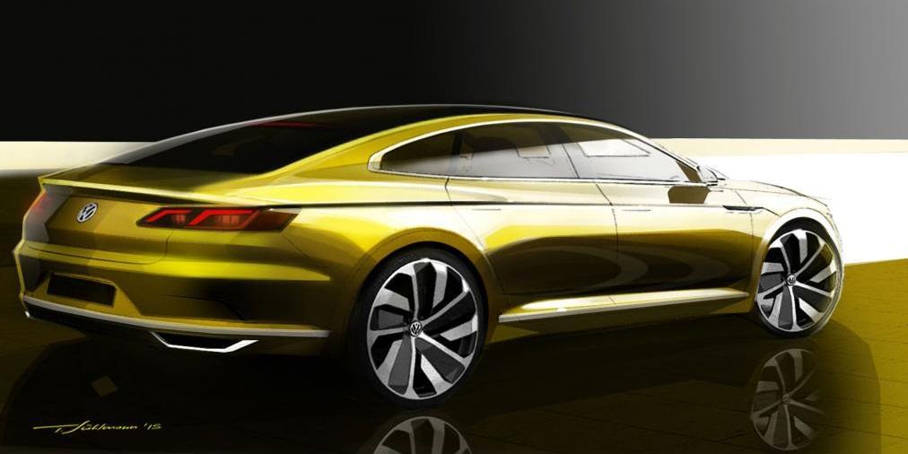 Primeros bocetos oficiales del nuevo Volkswagen CC 1