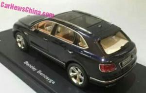 Así es el Bentley Bentayga de producción... a escala 1:18