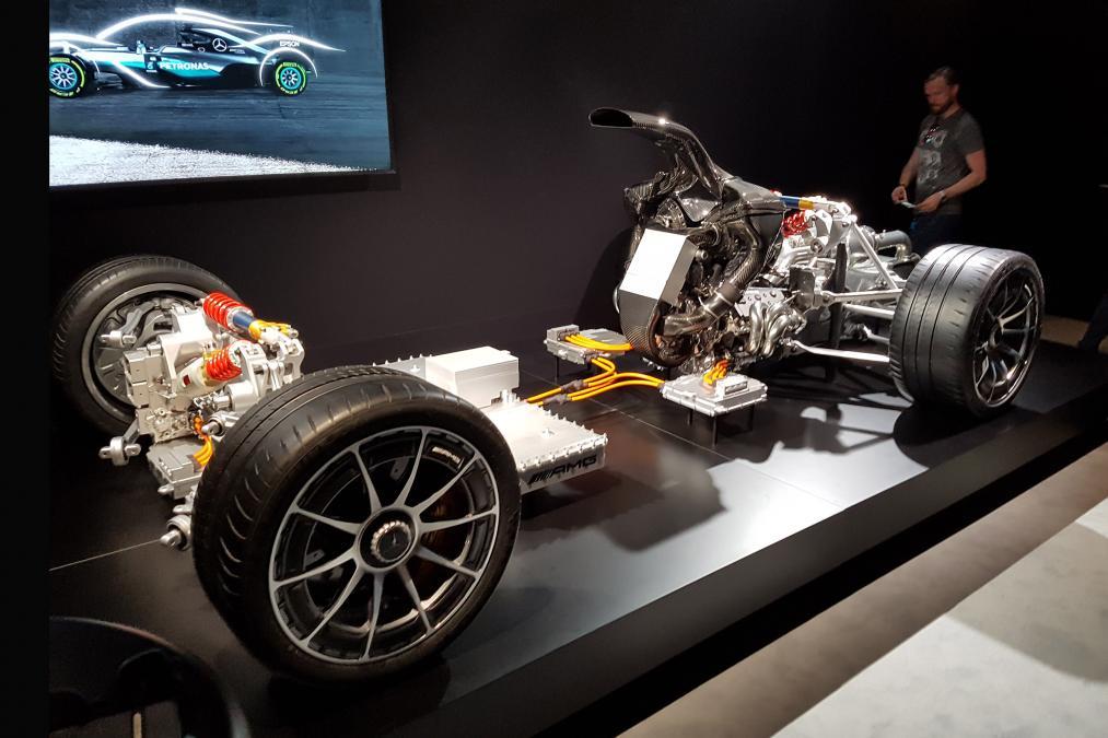 Así es el esqueleto del Mercedes AMG Project One, lo veremos en Fráncfort