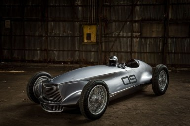 Infiniti Prototype 9 concept: Así es el monoplaza de los años 30 con tecnología eléctrica que veremos en Pebble Beach