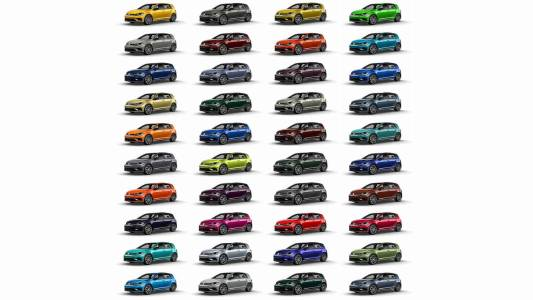 40 nuevos colores para el Volkswagen Golf R