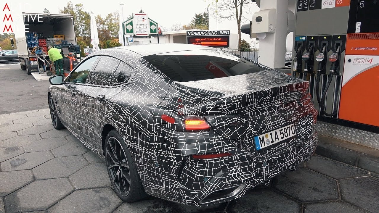 2020 BMW M850i GRAN COUPE SPIED TESTING AT THE NÜRBURGRING