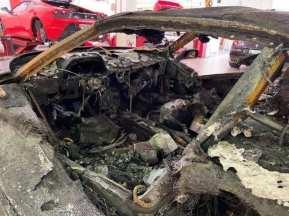Fotos: Este es el estado del Ferrari F40 que se incendió en Mónaco hace algunos meses