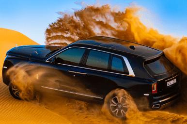 El Rolls-Royce Cullinan muestra sus capacidades y robustez en el desierto