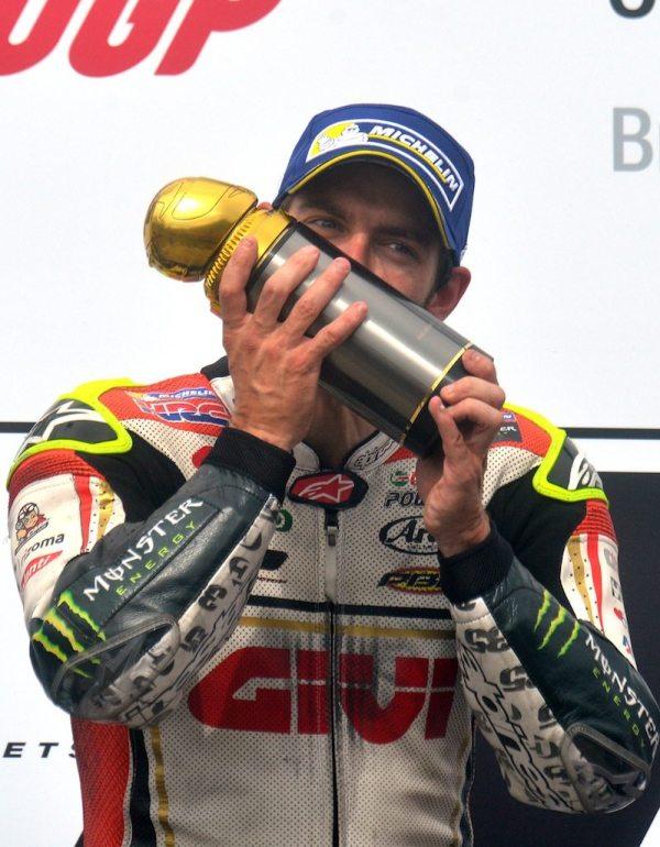 Cal Crutchlow MotoGP Brno podium