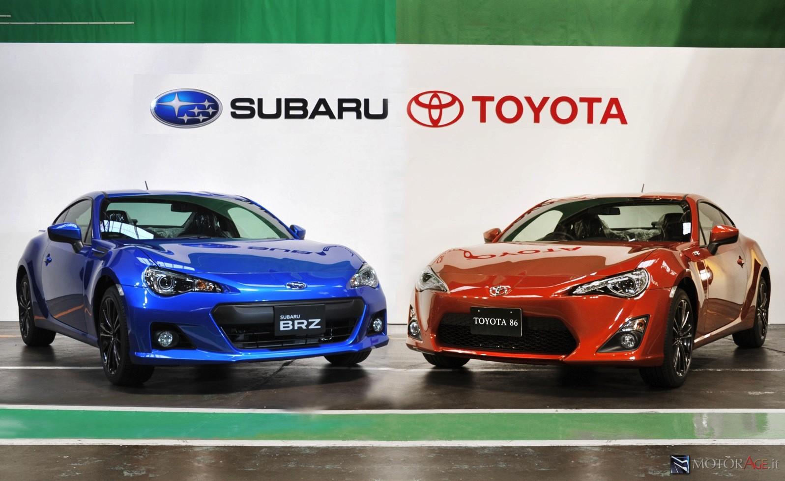 Toyota GT86 e Subaru BRZ: nel 2021 la seconda generazione