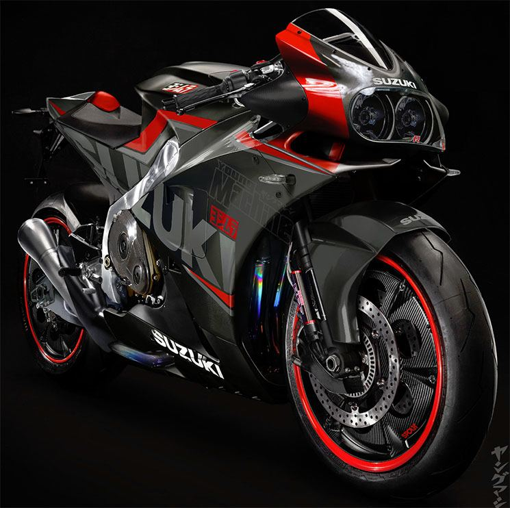 suzuki prepares a new gsx r 750 for 2019 motorbike fans. Black Bedroom Furniture Sets. Home Design Ideas