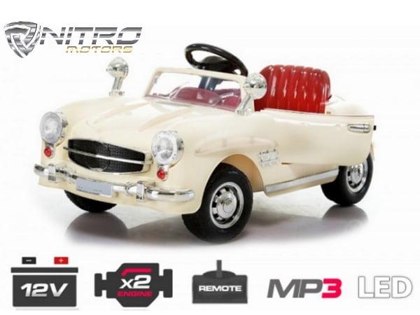 Auto Elettrica Per Bambini Mcd Retro Mercedes Epoca Style