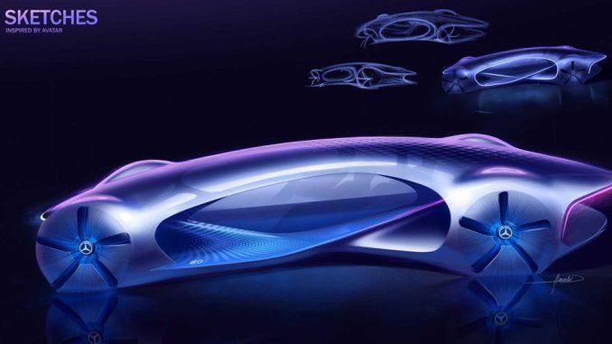 رسم تخطيطي لمفهوم Mercedes Vision AVTR