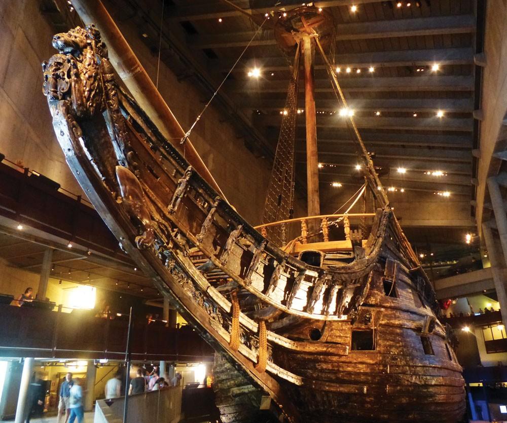 İsveç'in ünlü savaş gemisi yüzakı Vasa