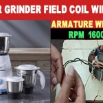 Mixer Grinder Field Coil Winding Data Armature winding data