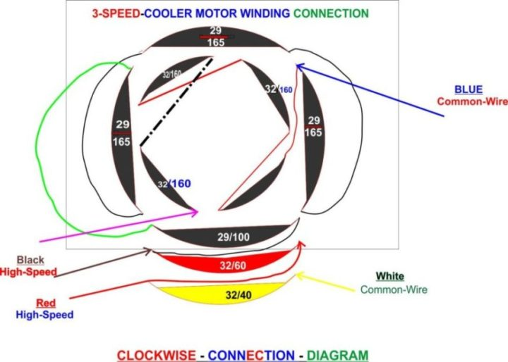 cooler motor connection diagram
