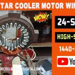 Kenstar cooler motor winding data and connection diagran