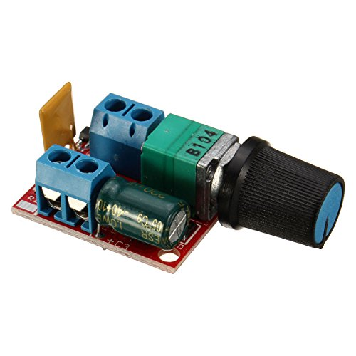 2PCS DC Motor Speed Control Driver Board 3V-35V 5A PWM Controller Stepless DC 3V 6V 12V 24V 35V Variable Voltage