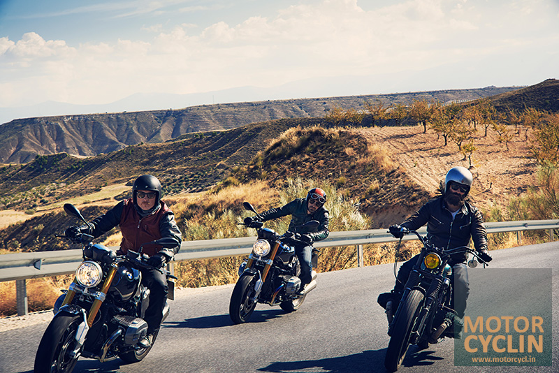 photos of BMW R nineT riding group