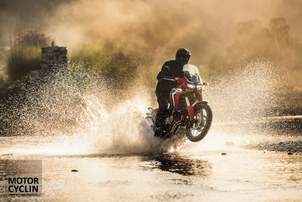 2016 Honda Africa Twin in water