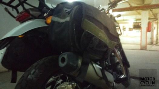 Royal Enfield Himalayan saddlebag stays and clearance.