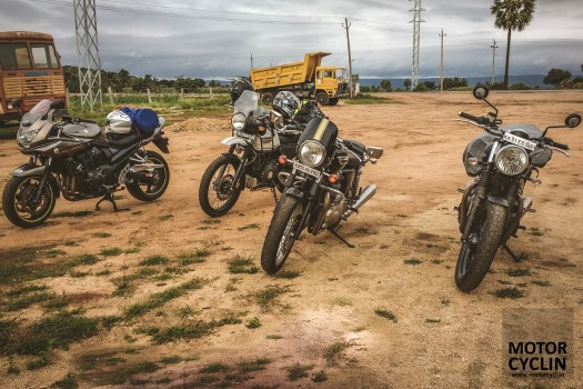 Royal Enfield Himalayan with imported machines.