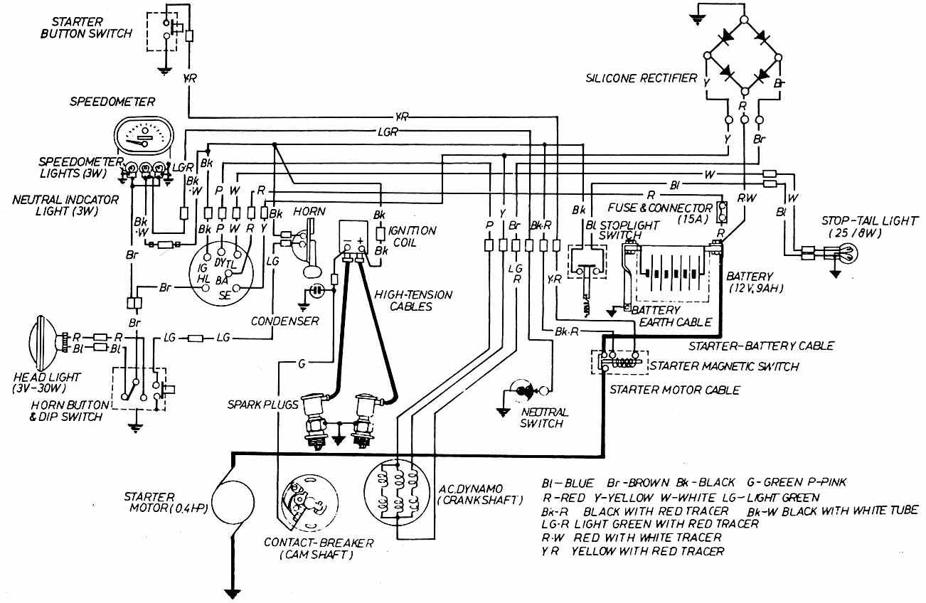 Yamaha 250 V Twin 6 Wire Diagram