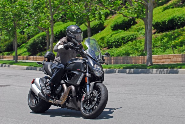 2013 Ducati Diavel Strada Action Right