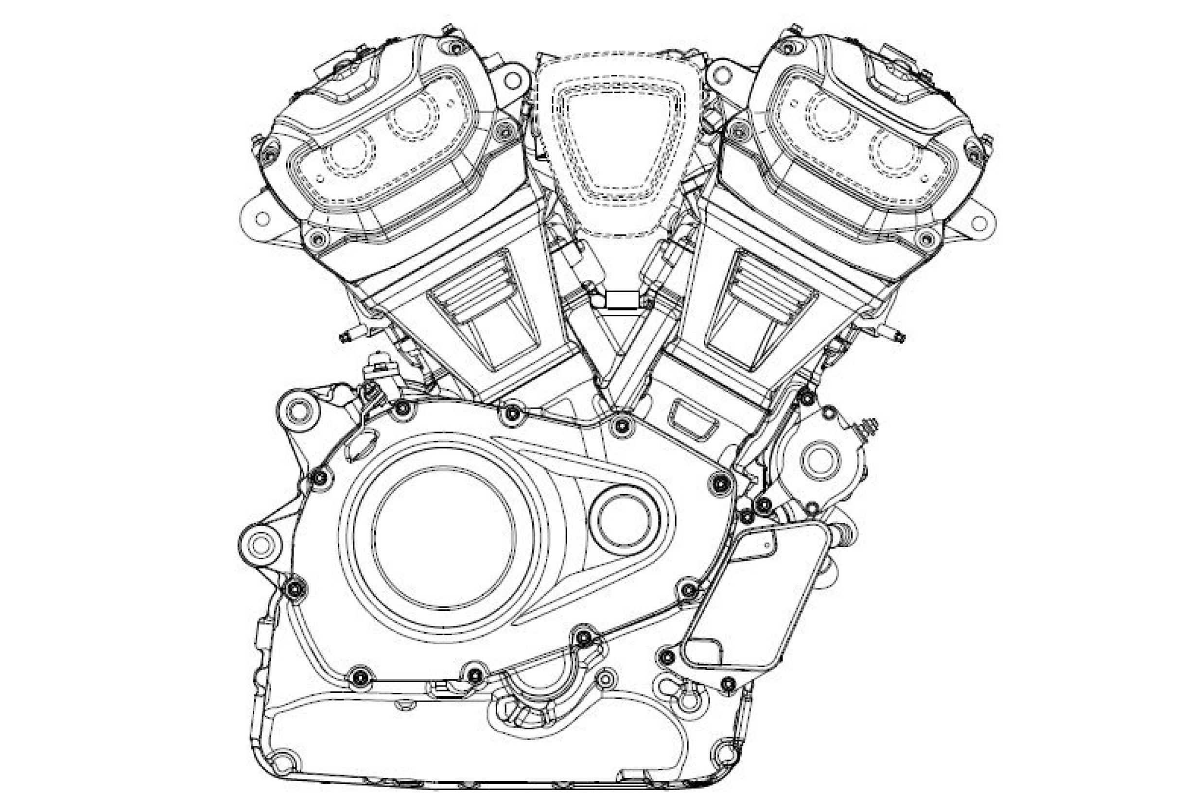 New Harley Davidson V Twin Engine Design Revealed