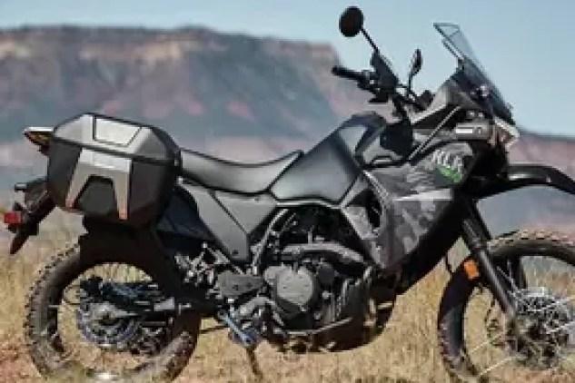 2022 Kawasaki KLR 650 in cypher camo