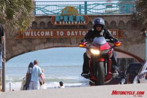 The DN-01 caused quite a stir wherever we went around Daytona's Bike Week.