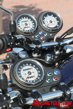 Basic Bonneville receives a speedo, while the T100 and SE get added tach.