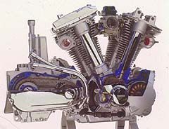 A view of Yamaha's big twin (1602 cc), the biggest production twin made.