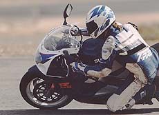 Associate Editor Gord Mounce posted his best time at the racetrack on the race-ready GSX-R600.