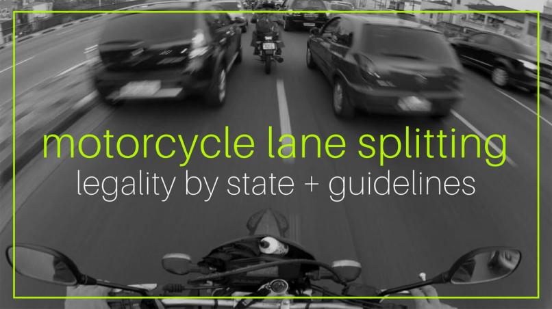 Motorcycle Lane Splitting Legality By