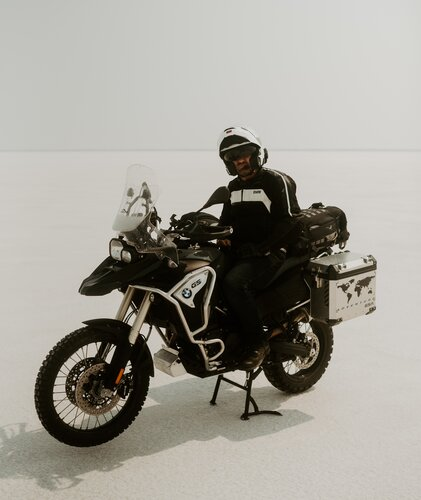 bmw with hard panniers