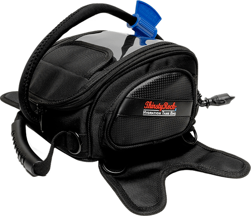 thirstyrock hydration tank bag - motorcycle touring hydration