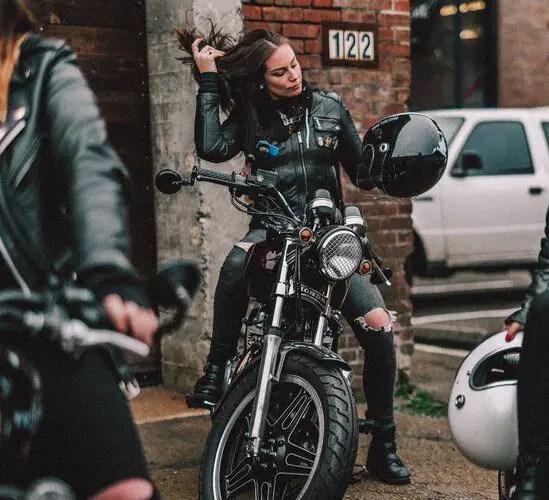 rider on retro honda