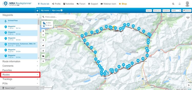 adding the initial route on myroute-app