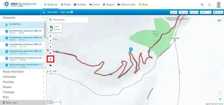 locating streetview in myroute-app