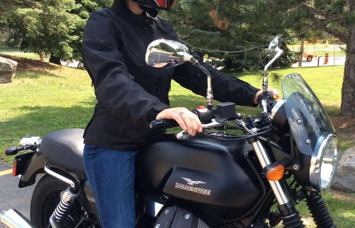 women's textile motorcycle jacket