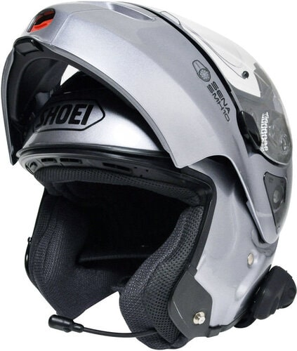 Sena SMH5 on Shoei helmet