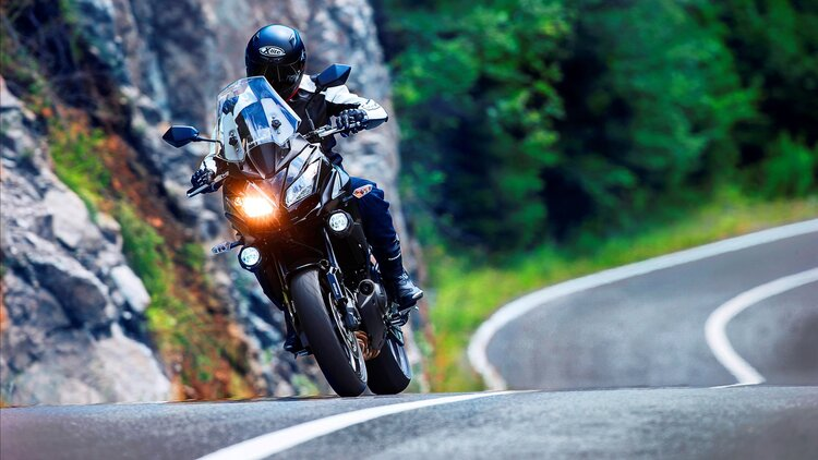 motorcycle winding roads - LED auxiliary lights