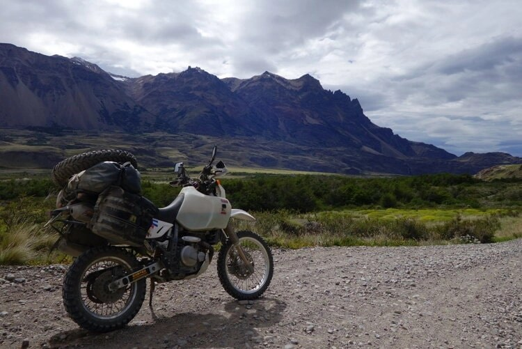 off-road motorcycle off-road in mountains