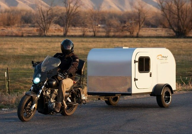 tow-behind trailer for motorcycle - moby1 c2