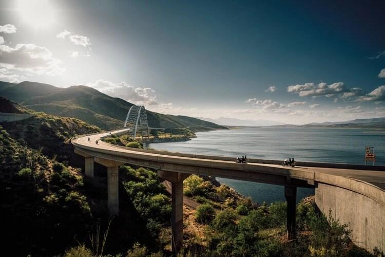 motorcycles on bridge - motorcycle travel