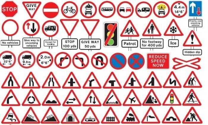 uk road signs - cornering a motorcycle