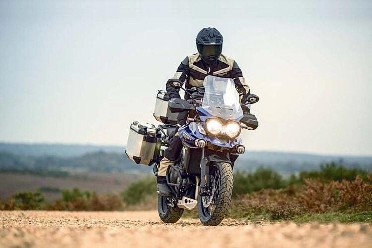 triumph tiger explorer adventure bike