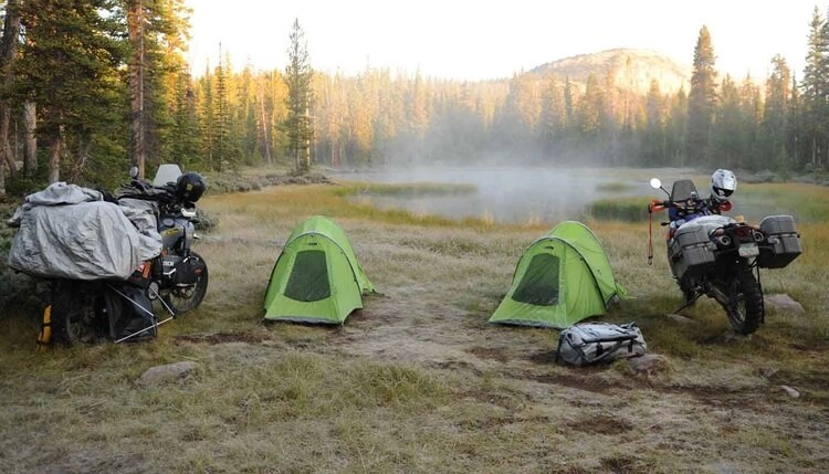 motorcycles and camping - riding motorcycles and mental health