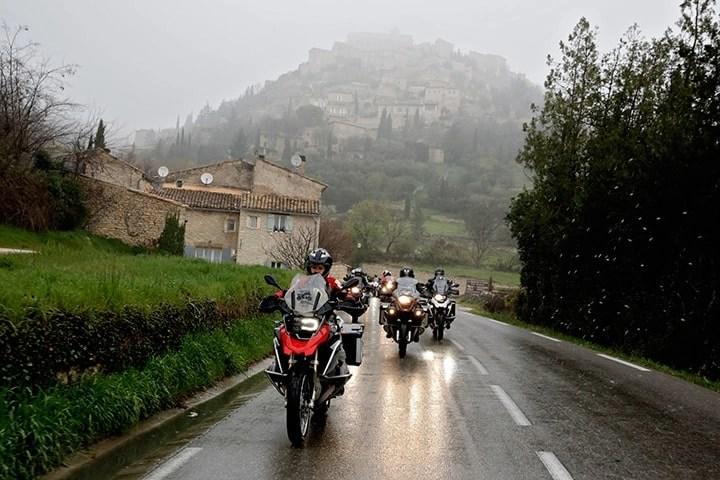 motorcycles in rain - wet weather motorcycle gear